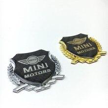 3D MINI Metal Araba Sticker Ön Kafa Hood Bonnet veya Arka Kuyruk Tampon Gövde Boot Işareti rozeti amblemi logosu Araba şekillendirici Aksesuarları