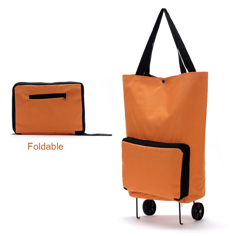 Portable Shopping Cart Covers Tug Trolley Case Package Oxford Cloth Folding Dual-use Can Be Towed Tugboat Package Fashion