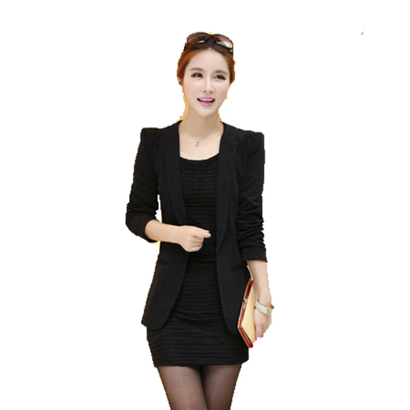 office coat. 2017 new autumn plus size womens blazers coat slim jacket full sleeve single button office ladies all match female a358 z