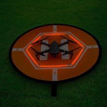 D80cm Drone посадочная площадка для парковки светится в темноте для DJI Phantom 2 3 4 Mavic Pro Air Inspire 1 Квадрокоптер Радиоуправляемый гоночный гаджет