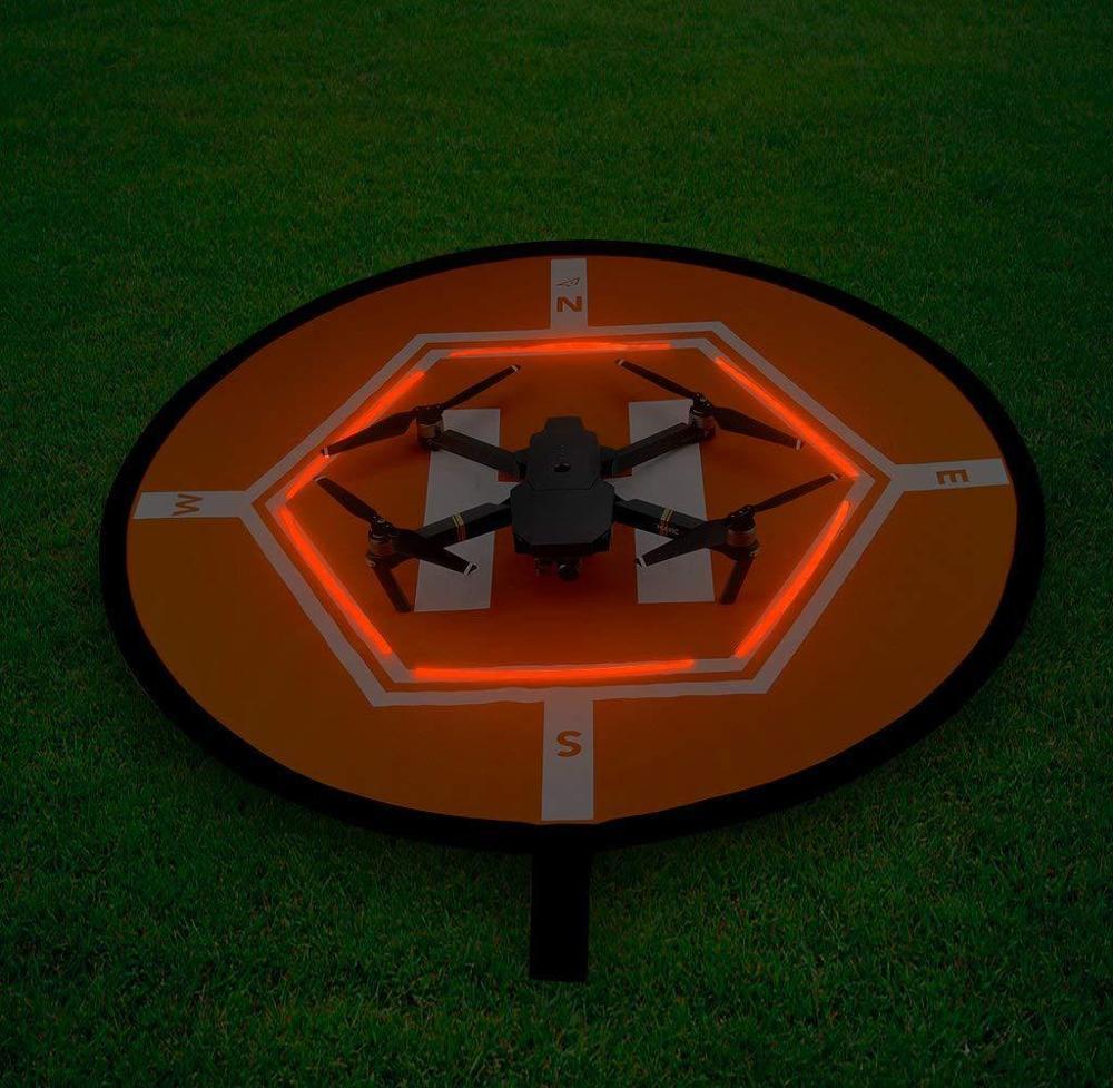 D80cm Drone Landing Parking Pad Glow in Dark for DJI Phantom 2 3 4 Mavic Pro Air Inspire 1 Quadcopter RC Racing Gadget
