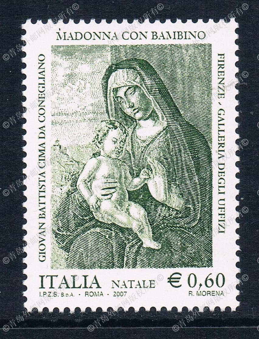 YT0137 Italy 2007 Christmas Edition of the mother of the child of the Christmas Edition of the painting stamp 1 new 0629 banknotes of the world 2007 банкноты стран мира 2007 выпуск 7