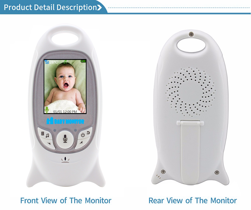 Wireless Video Baby Monitor with 2 Inches LCD Two Way Audio Talk Night Vision - VB601 10