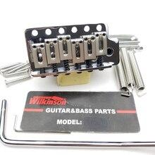 Wilkinson ST Sistema de trémolo de guitarra eléctrica, puente WOV02, cromado, plateado, novedad