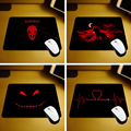 MaiYaCa 2016 Hot Cool Sell New Small Size Bloody Cool and wolf Mouse Pad Non-Skid Rubber Pad 220mmX180mmX2mm and 250mmx290mmx2mm