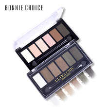 BONNIE CHOICE Eyeshadow Pallete Eye Shimmer Matte Dazzling Waterproof Sweat-proof 6 Colors Makeup Tool
