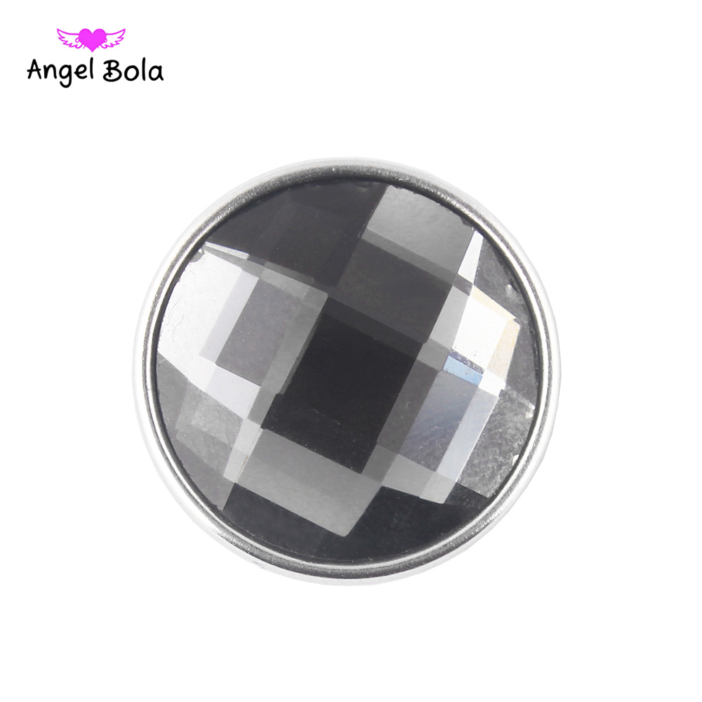 12PCS/LOT 18mm Snaps Buttons Jewelry Faceted Glass Snaps Fit Snaps Bracelets Ginger Snaps Jewelry NS002-72 Free Shipping