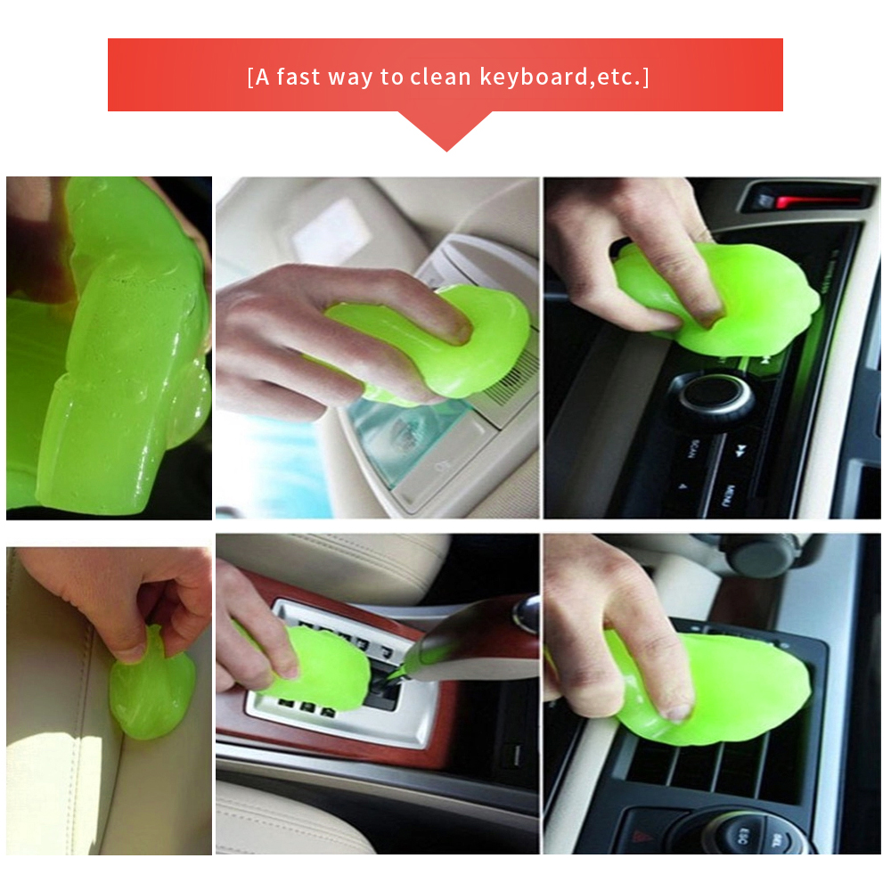 Image 5 - New Soft Clean Gel Super Dust Remover Keyboard Cleaner Magic Cleaning Tool Universal for Keyboard Car Air Outlet (Random color)-in Sponges, Cloths & Brushes from Automobiles & Motorcycles