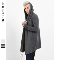 INFLATION 2016 New Arrival Brand Soild Men S Cloak Hooded Male Streetwear Sweatshirts Hip Hop Autumn