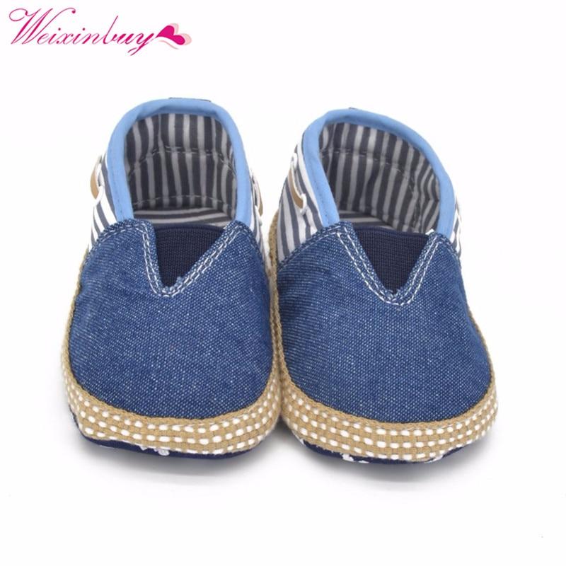 Toddler Baby Boy Girls Jeans Denim Soft Sole Crib Shoes Prewalker Newborn 0 to 18M