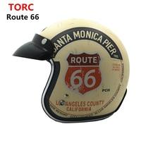 New Arrival TORC T50 Route 66 Motorcycle Helmet Jet DOT Harley Vintage Scooter Retro Helmet Casco