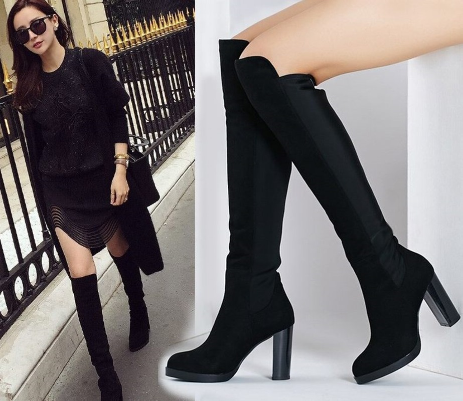 leather over the knee boots page 1 - leggings