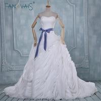 Fashionable Elegant Ball Gown Wedding Dress Real Image Sweetheart Strapless Ruffle Skirt Plus Size Wedding Dresses