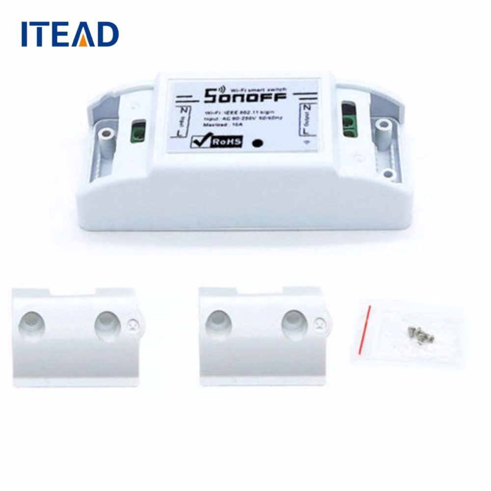 Sonoff Wireless Wifi Smart Switch Practical APP Control Switch Home Automation Module Timer Smart Switch sonoff 4ch channel remote control smart wifi switch home automation module on off wireless timer diy switch din rail mounting