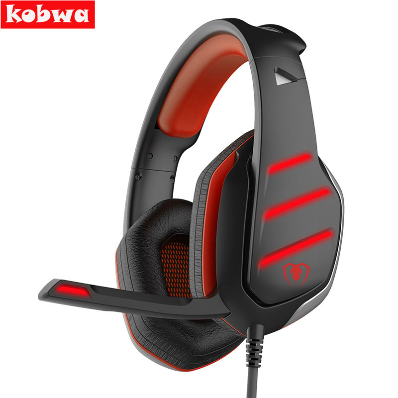 PC Gaming Headset GM-3 Wired Stereo LED Light Bass Over-ear Professional Gaming Headphones with 3.5mm Mic Noise Isolating portable 3 5 jack wired headphone ear shaped cute foldable stereo headset sport led light gamer games headphones
