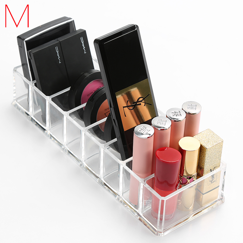 M Blush Storage Box 8 Grids Eye shadow Organizer Cosmetics Box Jewelry Display Case Cosmetic Containers holder C221