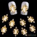 Moda 3D Nail Art Rhinestone Rombo Perla Brilla Manicura Clavos de 7GW7 AS9
