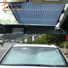 LARATH Sun Shield Car Window Black Roller Block Blinds Shades For Sun Visor Windshield Retractable Car Auto Sun Shade CZY4486