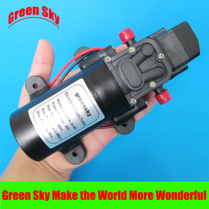 ФОТО DC 24V 60W Micro Diaphragm Water Pump Self-priming Booster Pump Automatic Switch 300L/H