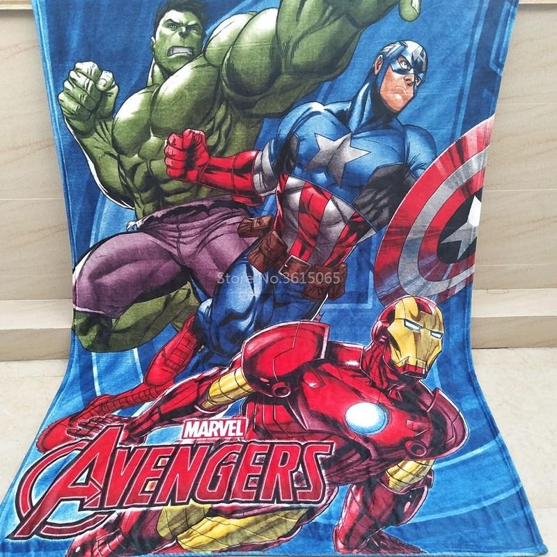 newest 29ad9 c3313 Popolare Avengers Coperta Del Fumetto Spiderman Superman Coperte In Pile di  Corallo per I Bambini Regalo Coperte e Plaid sul Divano Letto Da Viaggio ...
