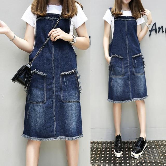 5xl плюс большие размеры женская одежда 2017 Весна-осень в Корейском стиле Vestidos ремень платье из джинсовой ткани женские a2956