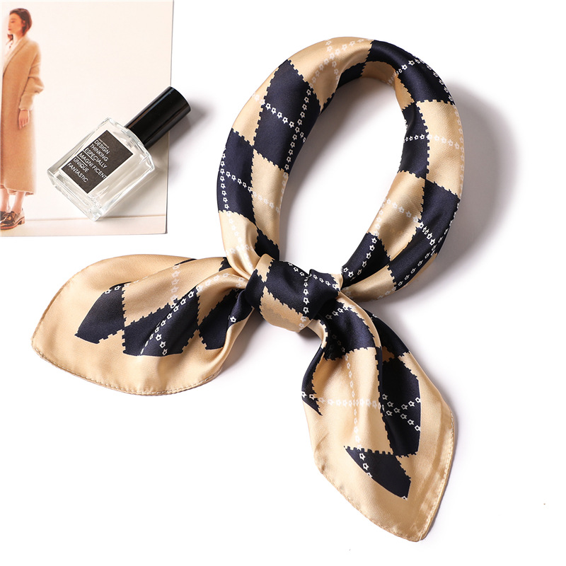 2019 summer silk scarf square lady shawl and wrap neck head hijabs handkerchief ribbon in Women 39 s Scarves from Apparel Accessories