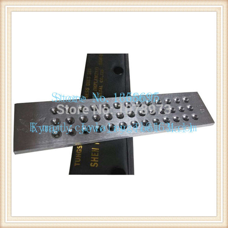 Livraison gratuite 0.26-2.80mm carbure de tungstène dessiner des plaques 39 trous bijoux rond timon