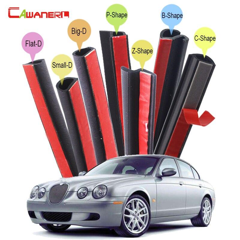 Cawanerl автомобиля уплотнение прокладки запечатывания комплект шумоглушения самоклеющийся резиновый уплотнение уравновешивания Выпушки уплотнитель для Ягуара s-тип модели XE и XF