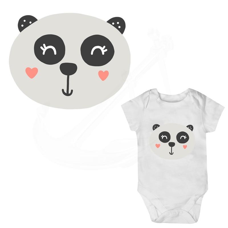 Music Memorabilia Helpful 2pc Popular Cute Cartoon Panda T-shirt Dresses Heat Transfer Patch Sticker A-level Washable Iron-on Appliques Diy Printing