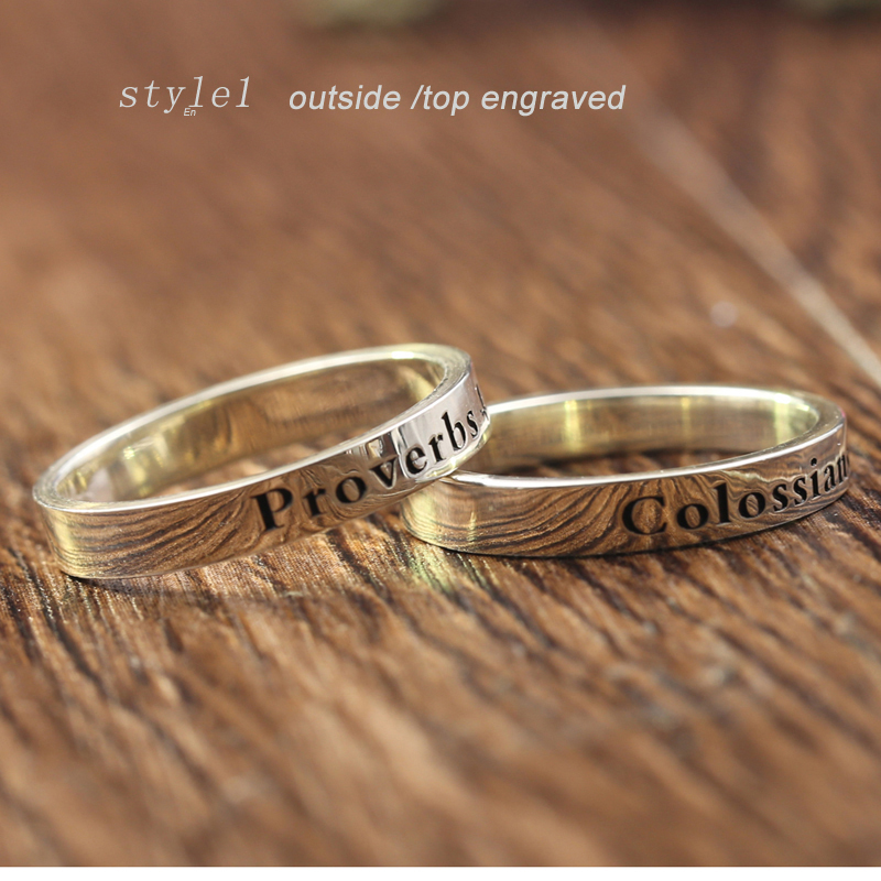 Personalized Custom Name Ring Women 925 Solid Silver Engagement Ring