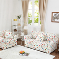 Pastoral Cartoon Flower Sofa Cover Big Elasticity Flexible Couch Cover Slip-resistant Drawing Room Decorate Loveseat Machine