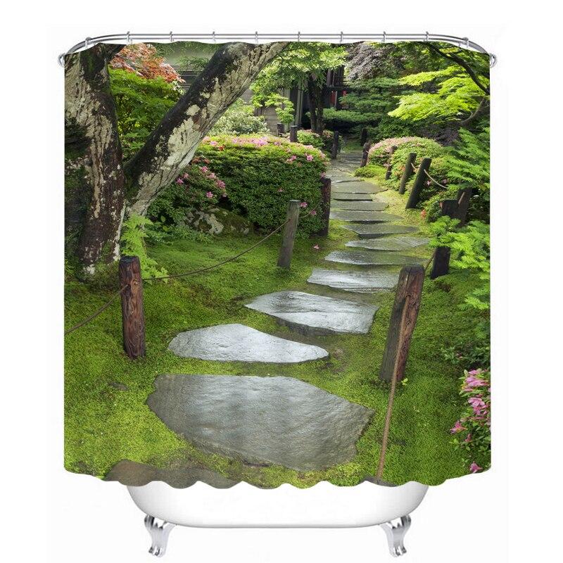 MYRU 3D Print Waterproof Trees Shower Curtains Bath