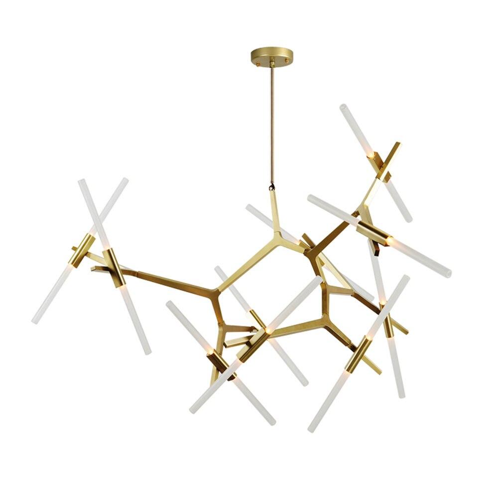 Современная люстра ветви деревьев Черное золото Стекло светодиодный Люстра светильник новый для Гостиная столовая люстра B064