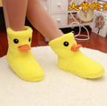 The New Big Yellow Duck Cute Cotton Shoes Women Home Slippers High Shoes Home Warm Shoes Winter Indoor Plush Slippers