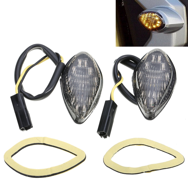 Mayitr 2pcs Motorcycle Flush LED Turn Signal Indicator Light Blinker Amber Lamp for Honda Grom 2014 2016 Car Styling|lamp for - title=