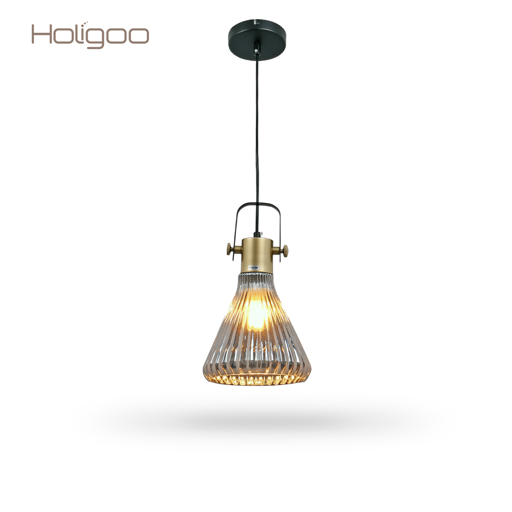 Holigoo Europe Style Simple Loft Retro Pendant Light Bar Restaurant Coffee Shop Lamp Personality Creative Glass Hanging Lighting цена и фото