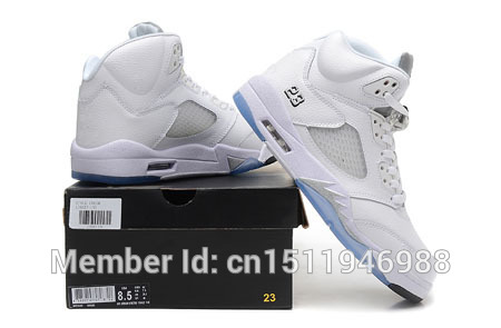 da769abbbc5f Wholesale 2015 New Metallic Silver 5s Mens Midnight Navy Basketball Shoes  For Sale with Shoes Box