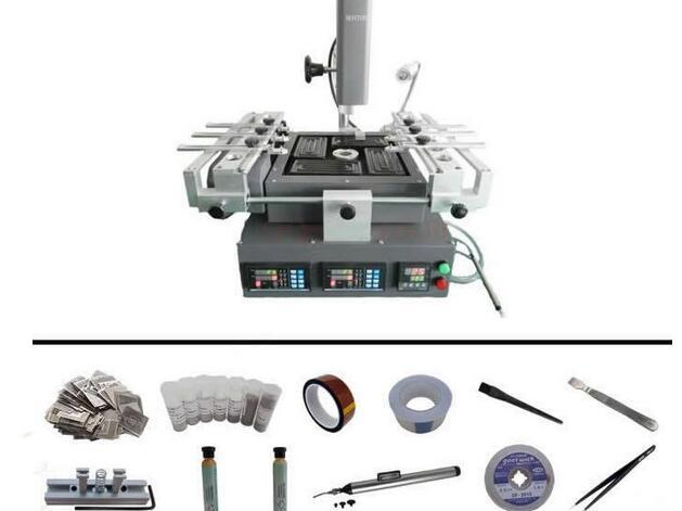 Honton HT-R392 Mini BGA rework station , Three Temperature Zones BGA machine with reballing kit, no tax to EU
