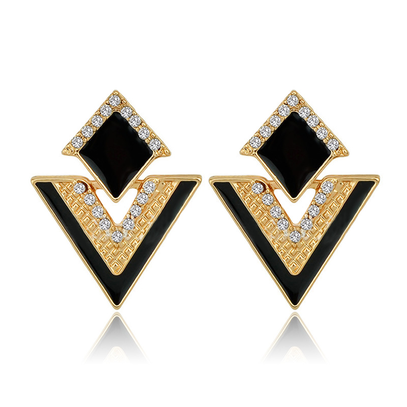 Buy triangle earrings studs and get free shipping on AliExpress.com 32ec9584094e
