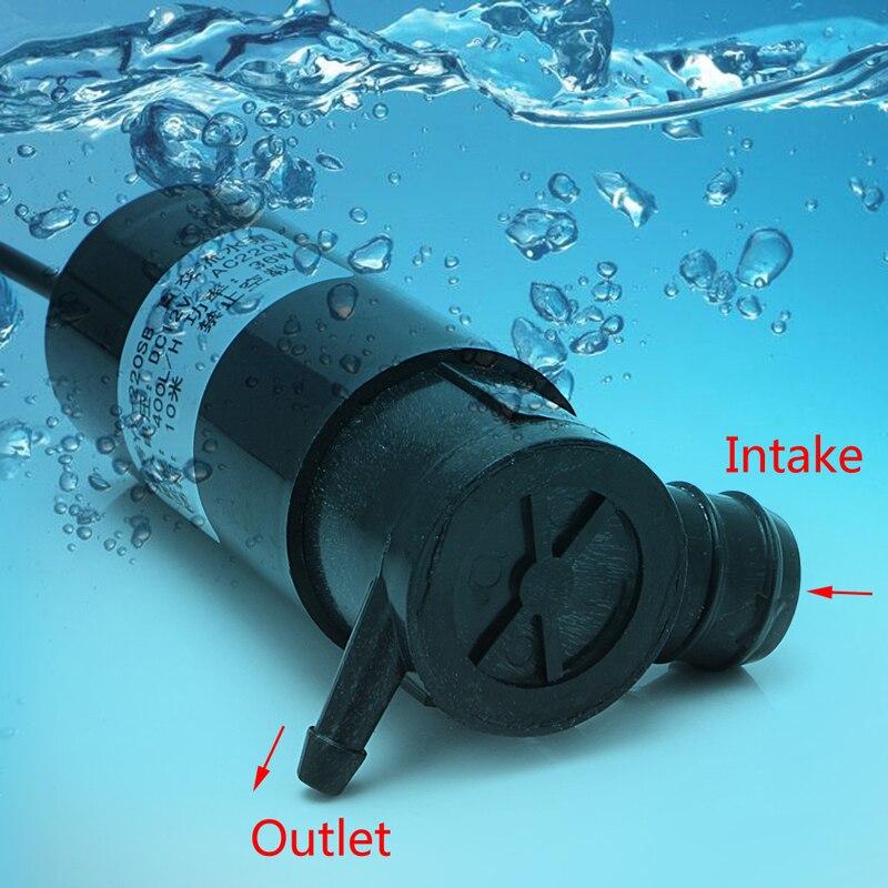 DC 12V/AC 220V 36W Submersible Water Pump 10m 400L/H Car Wash Bath Fountain