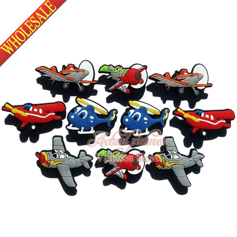 Free shipping New arrival  20Pcs/lot  Planes shoes charms shoe decoration shoe accessories fit Wristbands & Croc Kids Gift