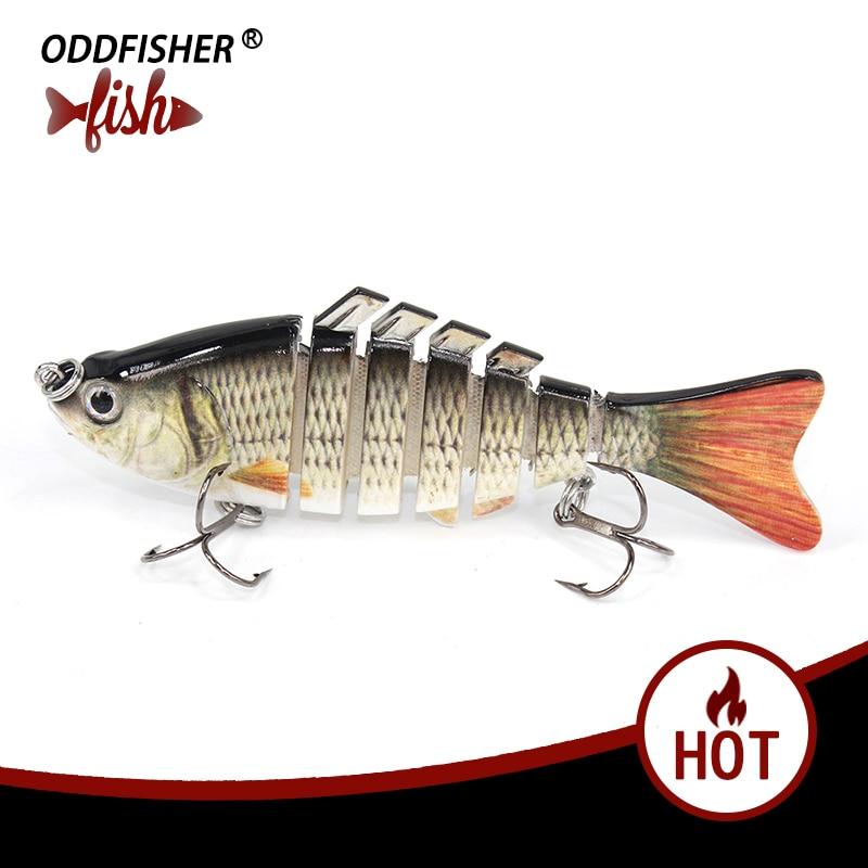 1PCS Fishing Wobblers Lifellike 3D Eyes Fishing Lures 10cm15g 6 Segment Jonited Baits Swimbait Quality Hard Bait Artificial Lure