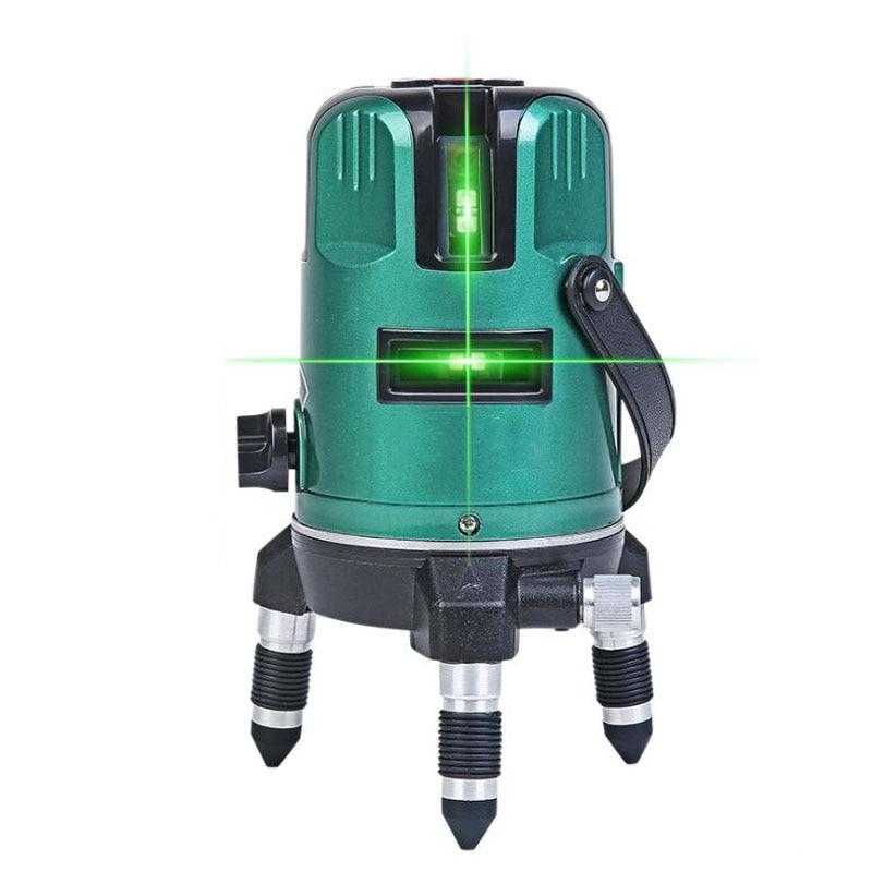 Portable 3D Laser Level 360 Unit Distance Meter Horizontal Line Measurement Construction Tool