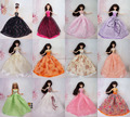 Lots 30 Pcs /  Handmade Doll Dresses Gown Dress Clothing For Barbie Doll Free shipping Different Colors Styles