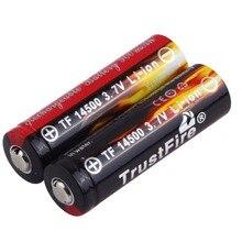 Seguro e Amigável para Lanterna 2 PCS AA 3.7 V 14500 900 MAH Li-ion Recarregável LED Bateria Ambiente em Estoque!