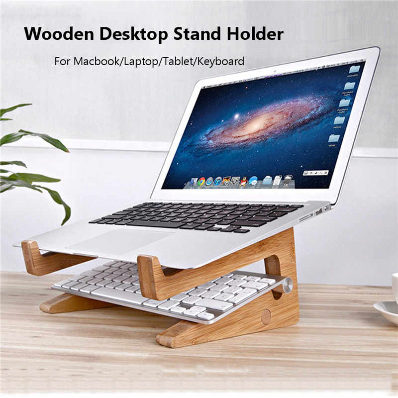 a752fd23a8e2 Detachable Laptop Desk Laptop Stand Wooden Holder Mount For Macbook Tablet  PC Notebook Portable Lapdesks with Cooling Function