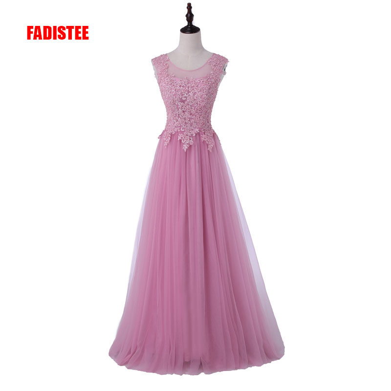 FADISTEE New Arrival  Party Evening Dresses Long Dress Vestido De Festa A-line Appliques Gown Sexy Backless Gown
