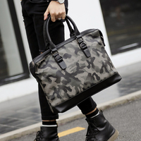 CAMO High Quality New PU Leather Men S Laptop Computer Briefcase Bags 14 Inch For MacBook