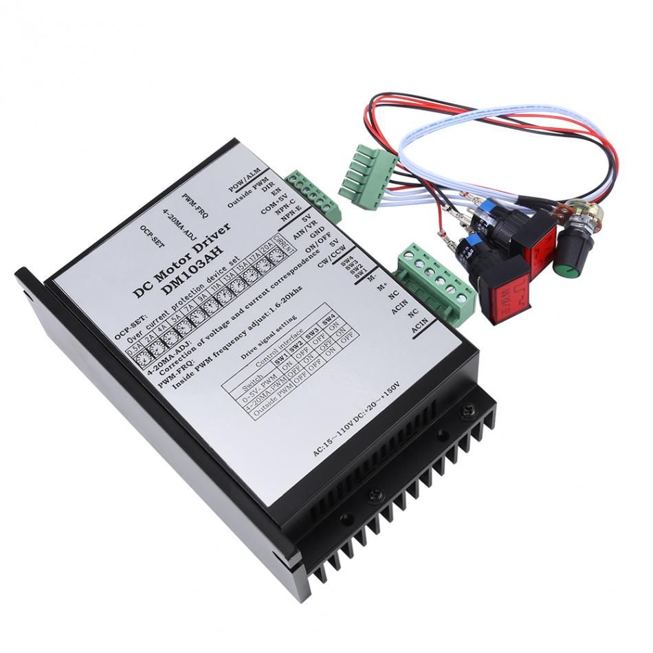 VBESTLIFE AC20 110V 2000W Brushed DC Motor Speed Controller Board PWM PLC Governor PWM Controller