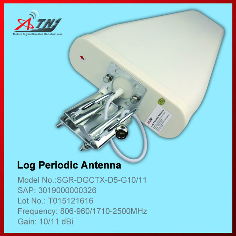 New Arrival !!Top Quality+ High Gain 10dbi , ATNJ 800-2500mhz Outdoor Log-periodic Antenna For 2G 3G 4G Signal Booster